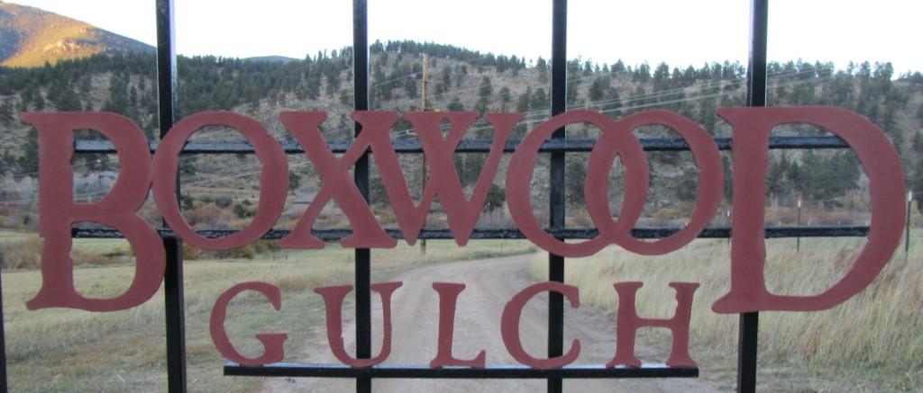 Boxwood Gulch gate